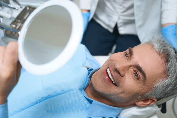 a dental patient in the chair